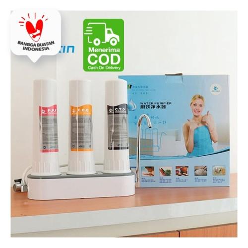 Foto Produk Filter Air Pemurni Air Keran Saringan Air PDAM Tanah / Air Minum Sehat - 1 Tabung dari SUNXIN