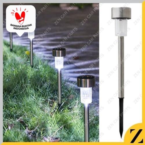 Foto Produk Lampu Taman Tancap Tenaga Matahari Surya Solar Cell LED stainless 37cm dari Zen Car Parts