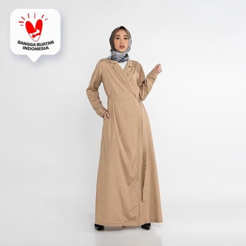 Foto Produk JENAHARA Dress with Blazer Neckline - Khaki - Khaki, L dari JENAHARA OFFICIAL