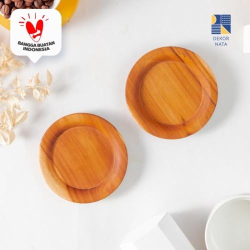 Foto Produk Circlo Teak Coaster / Alas Gelas / Cangkir / Tatakan Gelas Kayu dari Dekornata