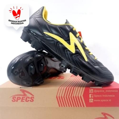 Foto Produk Sepatu Bola Specs Tycon FG Black Fresh Yellow 101370 Original BNIB dari KING OF DRIBBLE