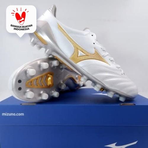 Foto Produk Sepatu Bola Mizuno Morelia Neo II MD White Gold P1GA205350 Original - 41 dari KING OF DRIBBLE