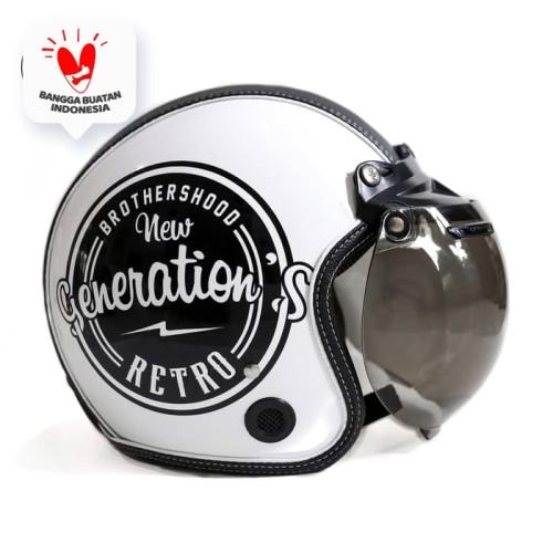 Foto Produk Helm Bogo Retro JMC Motif BrotherHood SNI - Kaca Bogo Biasa dari JMC Helmet