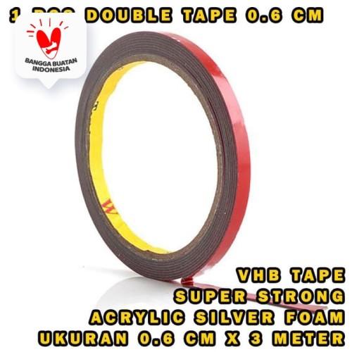 Foto Produk 3m double dobel tape 6mm isolasi perekat import dari Modifikasi Market