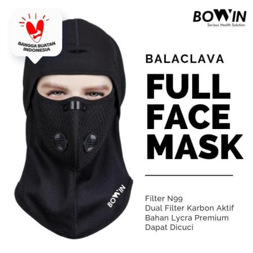 Foto Produk Bowin Masker Full Face N99CV Balaclava ( Masker Motor - Buff) - Hitam dari JMC Helmet