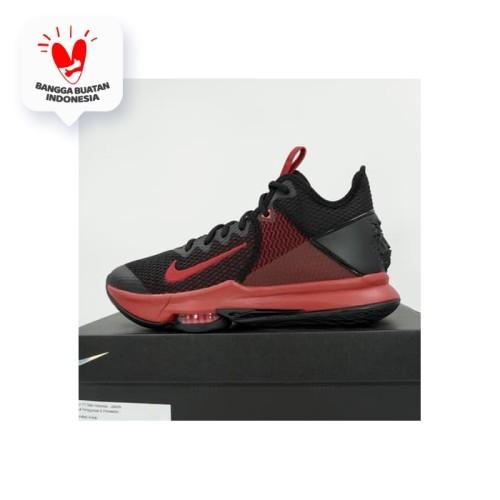Foto Produk Sepatu Basket Nike Lebron Witness IV Black Gym Red BV7427-006 Original dari KING OF DRIBBLE