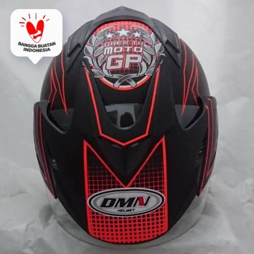 Foto Produk Helm DMN double visor Moto GP Orange doff bukan BXP KYT INK GM NHK dari Boss helm