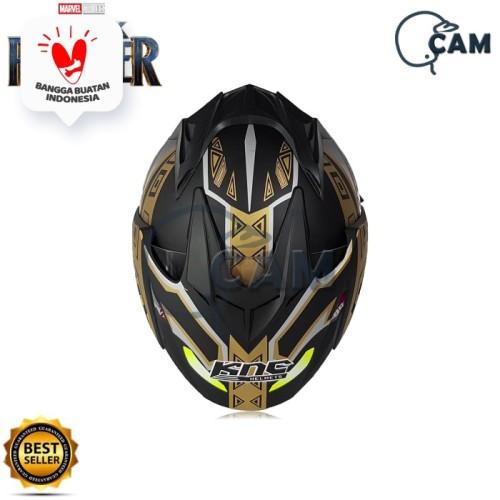 Foto Produk Helm DMN KNC Black panther Black doff Gold JP-7 dari Boss helm