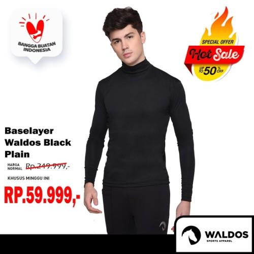 Foto Produk PROMO !! Baselayer Training Waldos Black Plain dari Waldos Sports Apparel