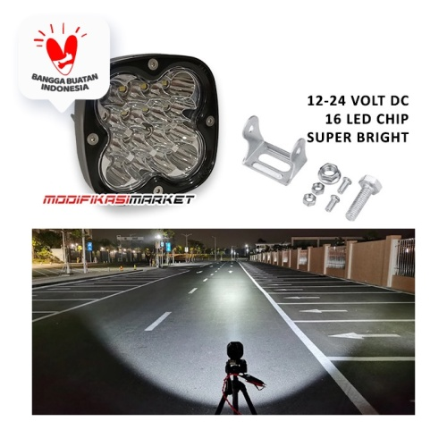 Foto Produk WORKLIGHT 40W WORK LIGHT 40 WATT 16 LED CREE CWL 12-24V HIGH QUALITY dari Modifikasi Market