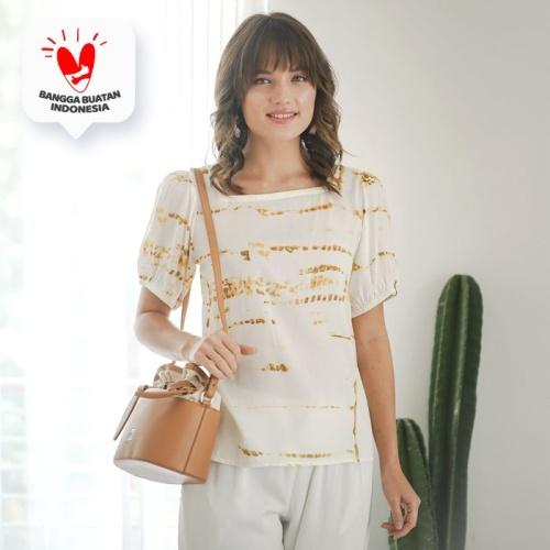 Foto Produk Gili Blouse Beatrice Clothing - Shibori Mustard dari Beatrice Clothing