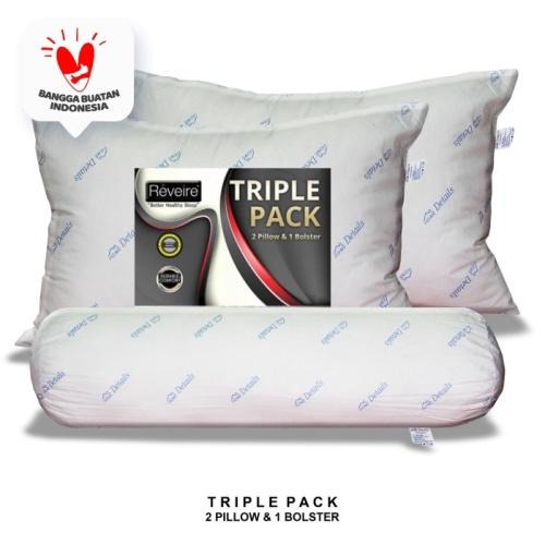 Foto Produk MIDNIGHT SALE !!! Paket Bantal & Guling Reveire Triple Pack dari The Luxe