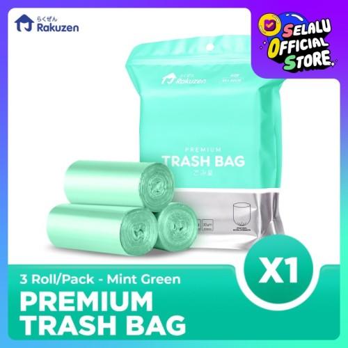 Foto Produk Rakuzen Premium Trash Bag Uk. 45 x 50 - Mint Green dari Bagus Official Store