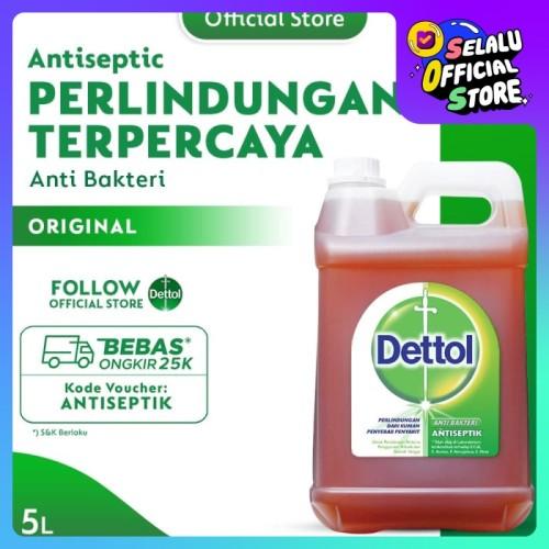 Foto Produk Dettol Cairan Antiseptik 5 Liter dari Dettol Official Store