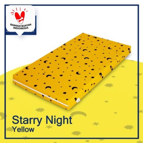 Foto Produk Elephant Matras Vacuum 10cm / Kasur busa bayi vakum Garansi 10 tahun - Starry Yellow, 110 x 70 x 10cm dari Elephant Springbed