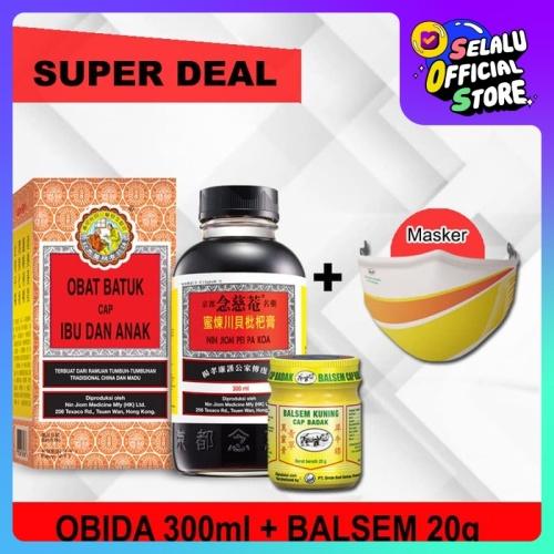 Foto Produk Obat Batuk Cap Ibu dan Anak 300 ml + Balsem Kuning 20 g + 1 pcs Masker dari PT. Sinde Budi Sentosa