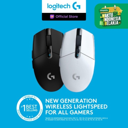 Foto Produk Logitech G304 Lightspeed Wireless Gaming Mouse - Putih dari Logitech G Official