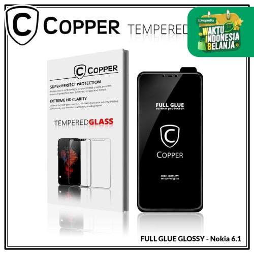 Foto Produk Nokia 6.1 - COPPER Tempered Glass Full Glue PREMIUM Glossy dari Copper Indonesia
