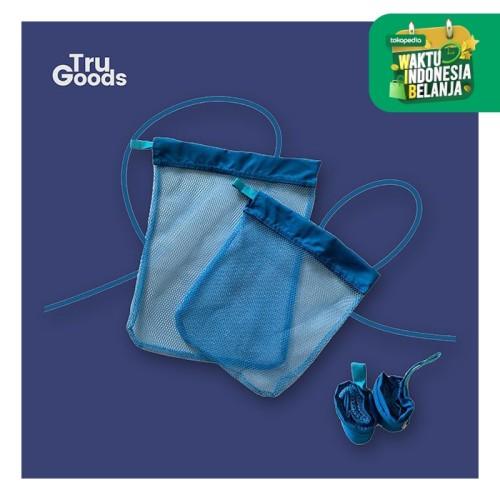 Foto Produk Foldable Shopping Bag / tas belanja lipat Rollpac buy 1 get 1 - Biru dari Tru_Goods