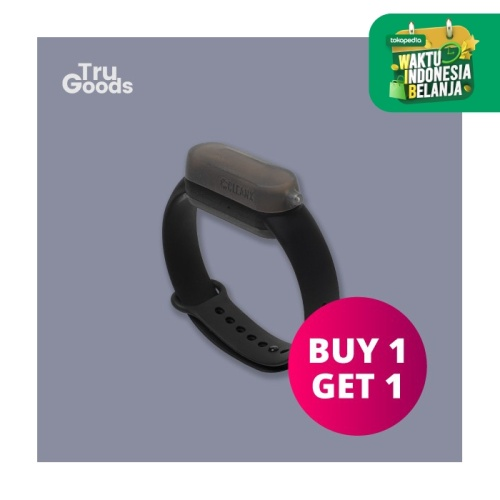 Foto Produk Sanitizer Band Premium / Gelang Sanitizer CleanX - Hitam dari Tru_Goods