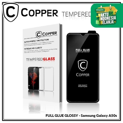 Foto Produk Samsung A50s - COPPER Tempered Glass Full Glue PREMIUM Glossy dari Copper Indonesia