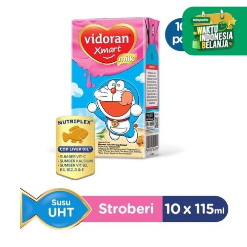 Foto Produk Vidoran Xmart UHT Susu Cair [115 mL/10 pcs] - Stroberi dari Tempo Store Official