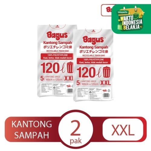 Foto Produk [Twinpack] Bagus Kantong Sampah XXL 5 Uk. 100 cm x 120 cm (120 L) dari Bagus Official Store