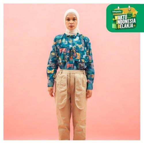Foto Produk ZM x Tantri Namirah - Jwi Tosca Kemeja Jelita Indonesia Edisi Padang - XL dari Zaskia Mecca Official