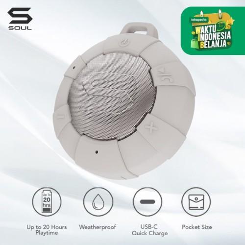 Foto Produk SOUL S-STORM Weatherproof Wireless Speaker - Beige dari Soul official