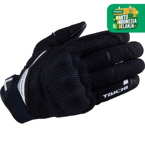 Foto Produk RS Taichi RST447 Rubber Knuckle Mesh Glove - Black White - S dari RS Taichi Official Store