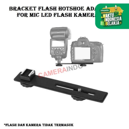 Foto Produk bracket Flash hotshoe adapter for mic flash led kamera dari cameraindo