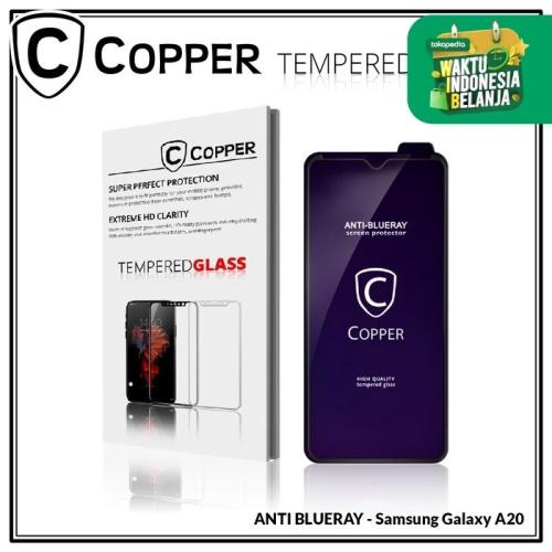 Foto Produk Samsung A20 - COPPER Tempered Glass ANTI-BLUERAY (Full Glue) dari Copper Indonesia