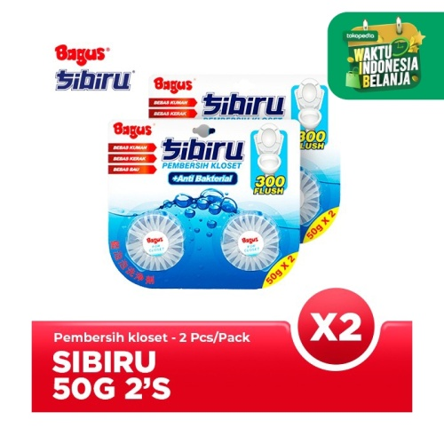Foto Produk TWIN PACK - Bagus Sibiru 50 Gr x 2 (Pembersih Kloset) dari Bagus Official Store