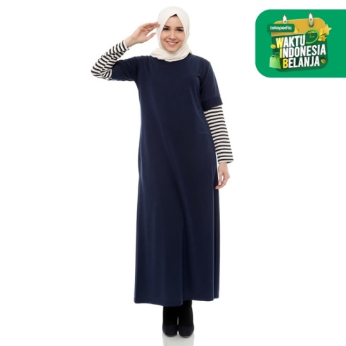Foto Produk Mybamus Lacost Stripe Dress Navy M14165 R61S4 dari Mybamus Official