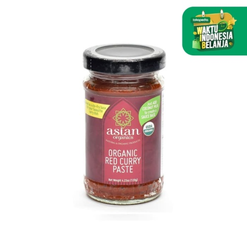 Foto Produk Asian Organics Red Curry Paste Organic 120g dari SESA Official