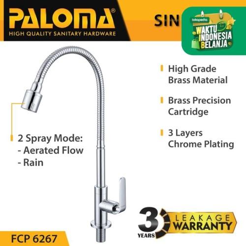 Foto Produk PALOMA FCP 6267 Keran Sink Fleksibel Angsa Cuci Piring Dapur Kran Air dari PALOMA HARDWARE