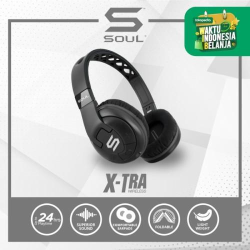 Foto Produk SOUL X-TRA Wireless Bluetooth Over-Ear Headphone - Biru dari Soul official