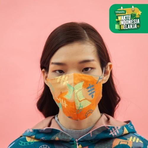 Foto Produk ZM x Tantri Namirah - Haci Orange Masker Jelita Indonesia Edisi Padang - All Size dari Zaskia Mecca Official