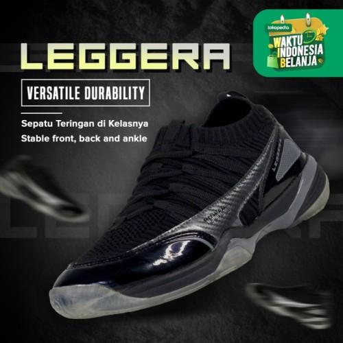 Foto Produk Hi-Qua Leggera Sepatu Bulutangkis/Badminton/Olahraga Super Ringan - Hitam, 38 dari Hi-Qua Original Shop
