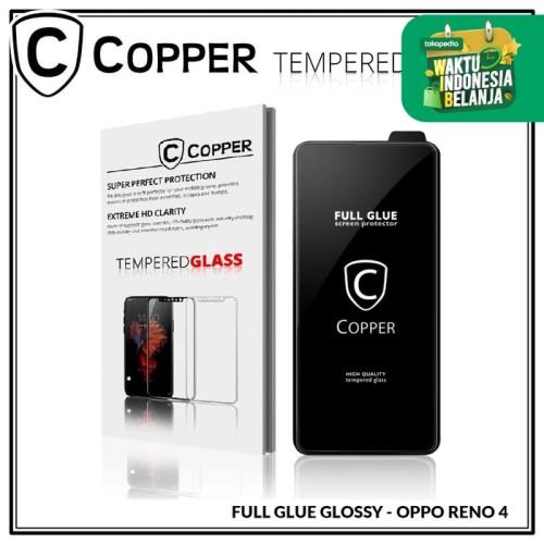 Foto Produk Oppo Reno 4 - COPPER Tempered Glass FULL GLUE PREMIUM GLOSSY dari Copper Indonesia