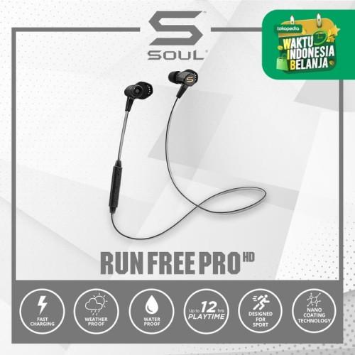 Foto Produk Run Free Pro HD Wireless Sport Bluetooth In-Ear Earphone SOUL Black - Biru dari Soul official