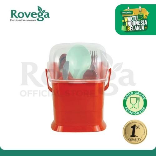 Foto Produk Rovega Small Spoony Tempat Sendok Premium Food Grade (MERAH) dari ROVEGA OFFICIAL STORE