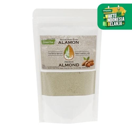Foto Produk Alamon - Green Tea 170gr - Susu Bubuk Almond - Organik - ASI Booster dari Jagapati