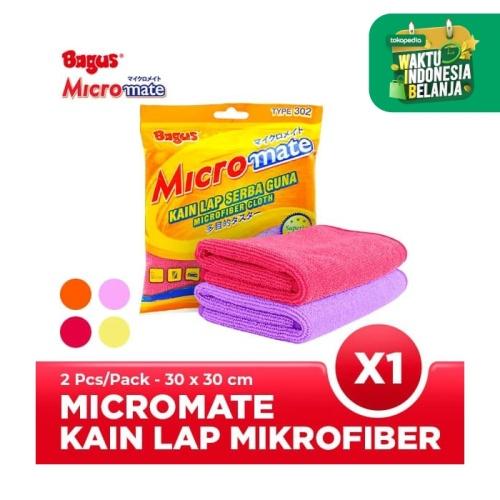 Foto Produk Bagus Micromate Kain Lap Serbaguna 2's Tipe 302 (30 X 30 Cm) dari Bagus Official Store