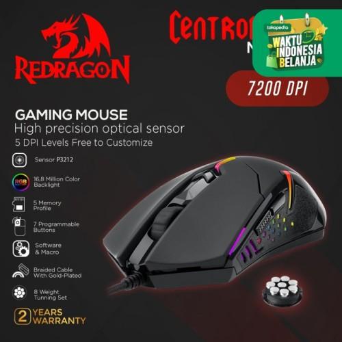Foto Produk Redragon Gaming Mouse CENTROPHORUS - M601-3 - RGB dari REDRAGON INDONESIA