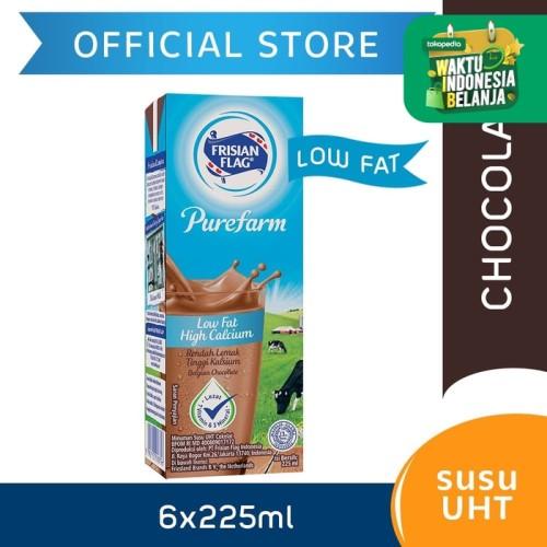 Foto Produk Frisian Flag Purefarm UHT Low Fat Belgian Chocolate 225ml [6 pcs] dari Frisian Flag Official