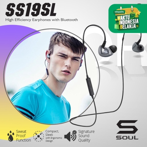 Foto Produk SS19SL High Efficiency Earphones with Bluetooth - Titanium dari Soul official