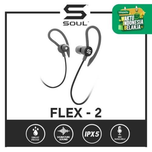 Foto Produk SOUL FLEX2 High Performance Sports Earphones - Hitam dari Soul official