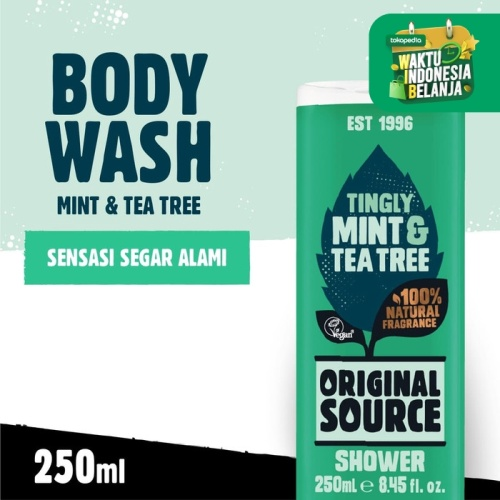 Foto Produk Original Source Shower Mint & Tea Tree 250ml dari Cussons Official Store