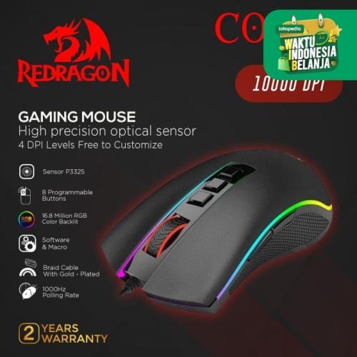 Foto Produk Redragon Gaming Mouse RGB COBRA - M711 dari REDRAGON INDONESIA